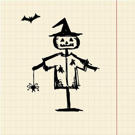 Halloween night symbol for your design
