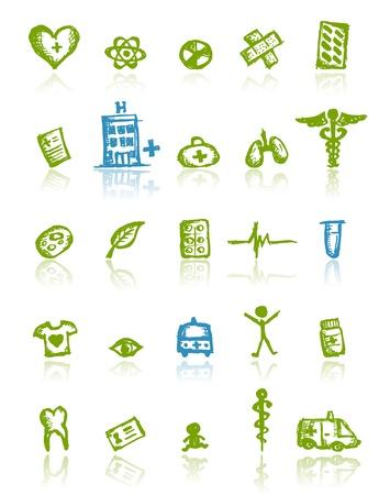 iconos medicos: Iconos m�dicos para su dise�o