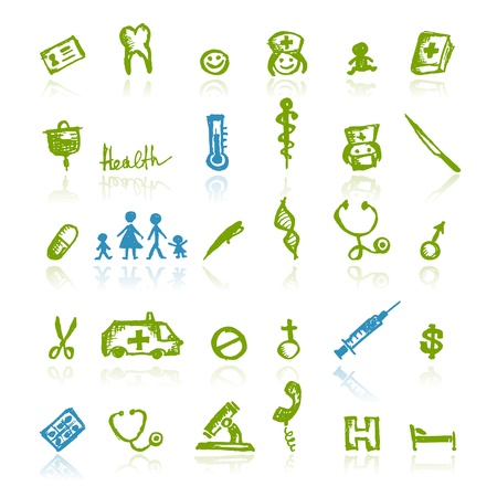 pharmacy icon: Medical icons for your design Illustration