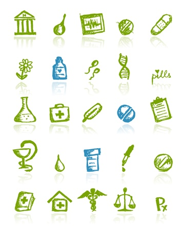 Medical icons for your design Stock Vector - 11264059