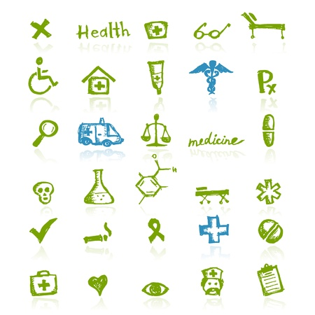 Medizinische Symbole für Ihr Design