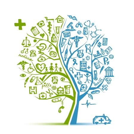 Concepto de árbol médica para su diseño