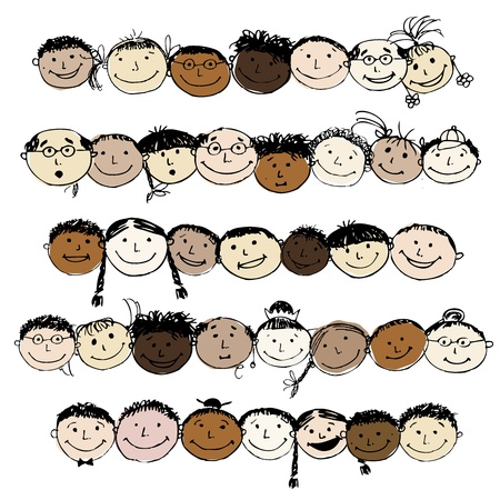 cartoons designs: Set of funny peoples, sketch for your design