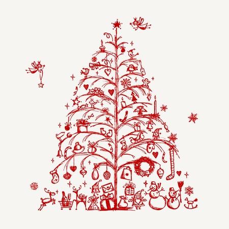 navidad dibujo del rbol para su diseo foto de archivo