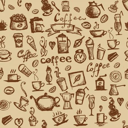 vintage cafe: Il caff�, sfondo trasparente per il tuo design