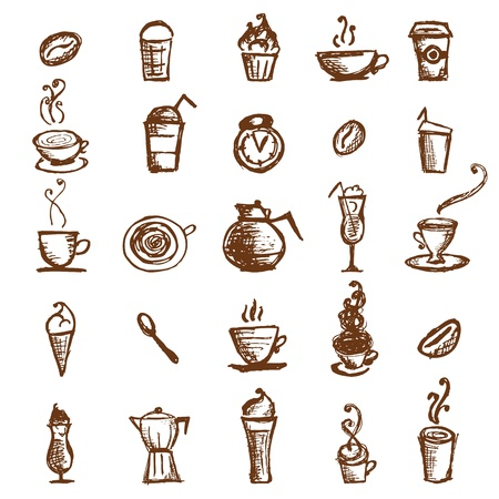 cappuccino: Coffee sketch, design elements