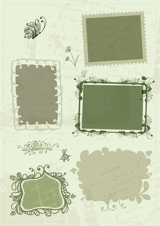 Sketch of frames, hand drawing for your design Vector