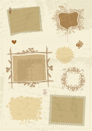 antique frame: Sketch of frames, hand drawing for your design Illustration