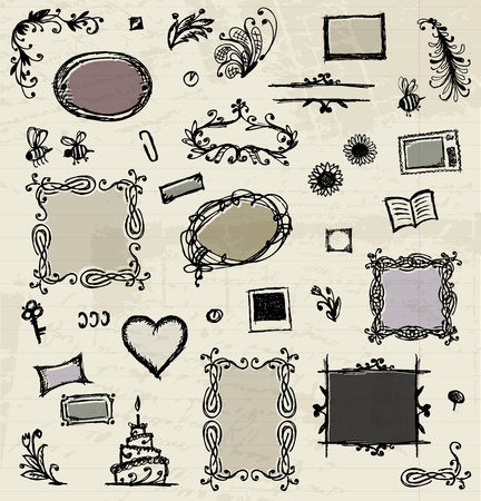 Sketch of frames, hand drawing for your design Stock Vector - 11476226