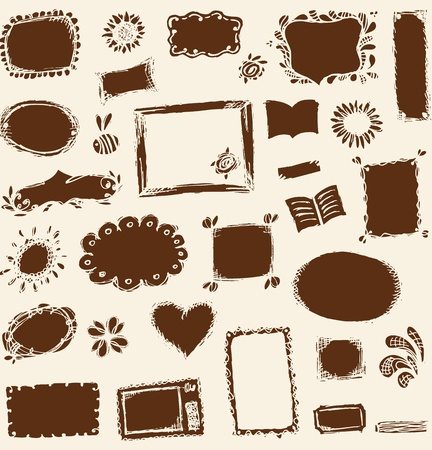Sketch of frames, hand drawing for your design Stock Vector - 11476152