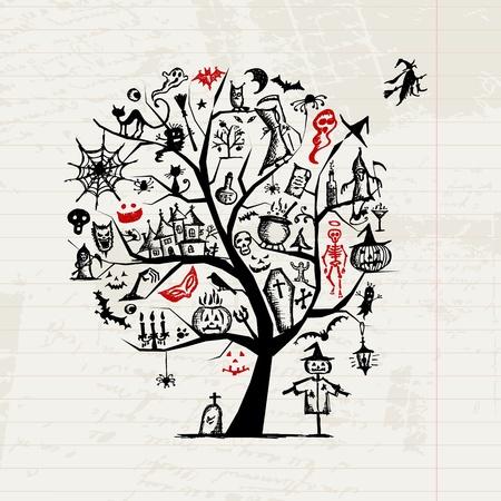 Halloween tree for your design Stock Vector - 11476187