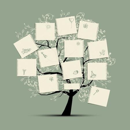 arbol geneal�gico: Desea �rbol para su dise�o Vectores