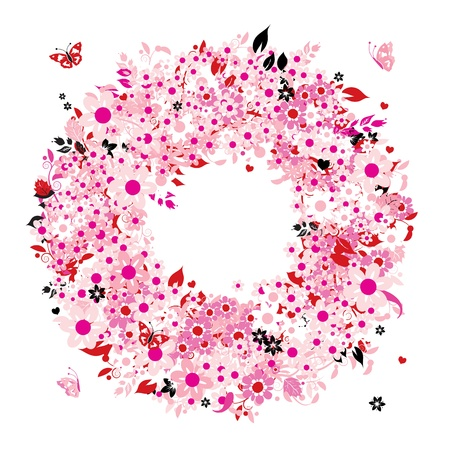 Floral wreath for your design Vector