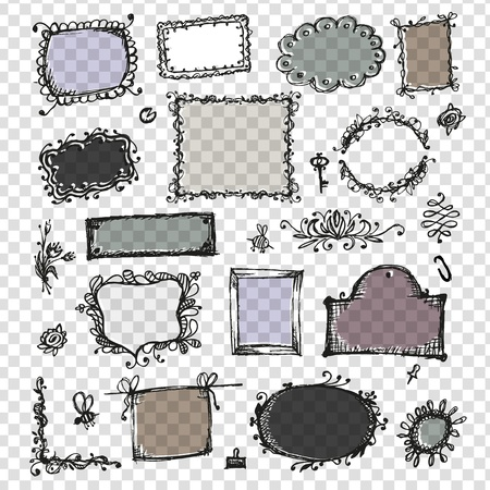 Sketch of frames, hand drawing for your design  Stock Vector - 12015218