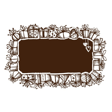 Gift boxes, frame for your design Stock Vector - 12015195