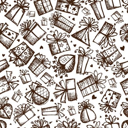 sketch pattern: Cajas de regalo, sin problemas de fondo para su dise�o