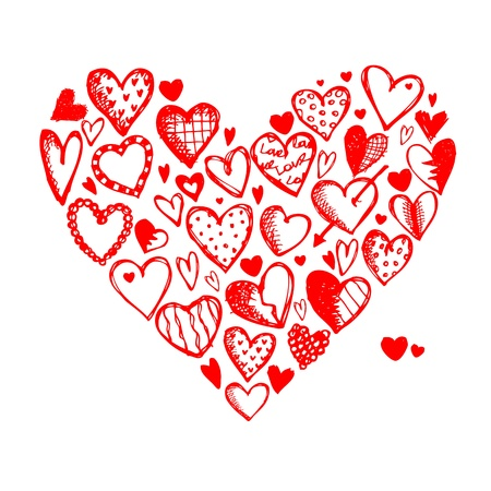 Valentine hearts for your design Vector