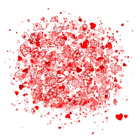 Valentine frame for your design Vector