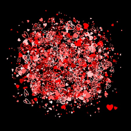 free abstract: Valentine frame for your design Illustration