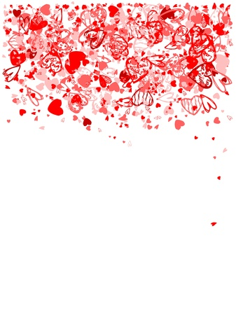 valentine day love beautiful: Valentine frame for your design Illustration