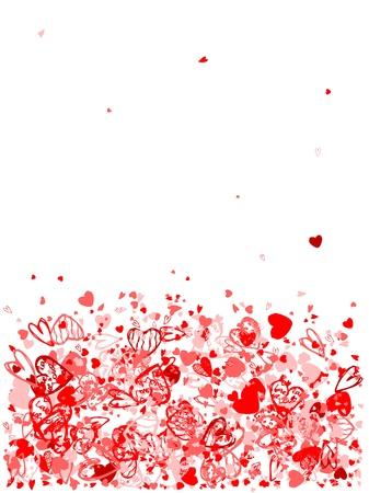 free holiday background: Valentine frame for your design Illustration