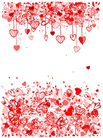 Valentine frame design with space for your text Vector