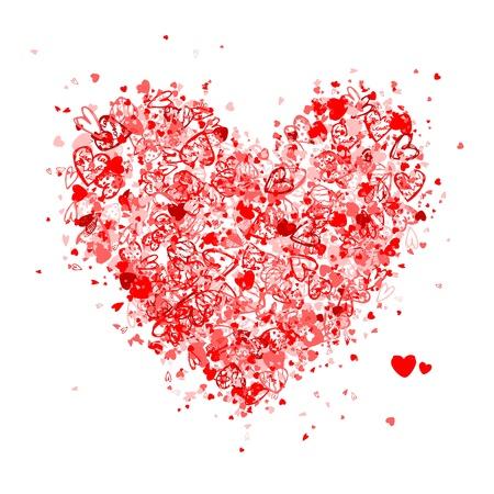 saint valentin coeur: Forme de coeur de Valentine pour votre conception Illustration