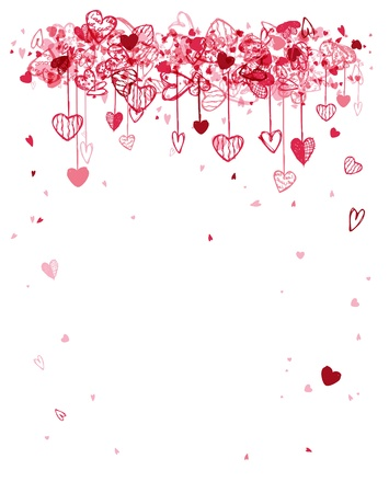 wedding symbol: Valentine frame design with space for your text