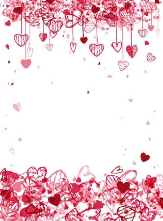 영상: 텍스트에 대 한 공간을 가진 발렌타인 프레임 디자인 일러스트