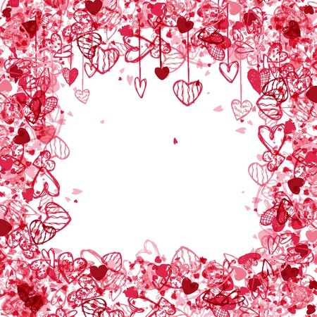 free holiday background: Valentine frame design with space for your text