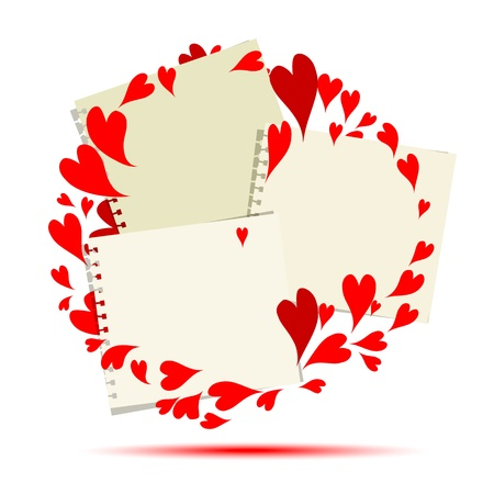 Valentine frame design, place for your photo or text  Vector