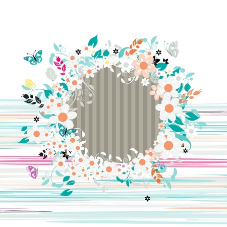 Floral frame, insert your photo here Stock Vector - 12335046