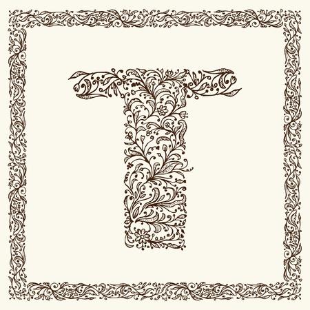 Ornamental letter for your design Stock Vector - 12335012