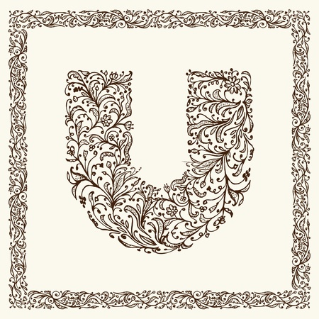 page borders: Ornamental letter for your design