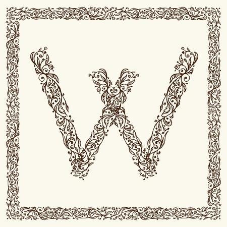 Ornamental letter for your design Vector