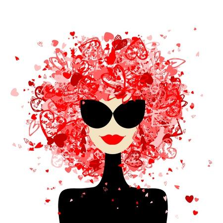 あなたのデザインのファッションの女性の肖像画
