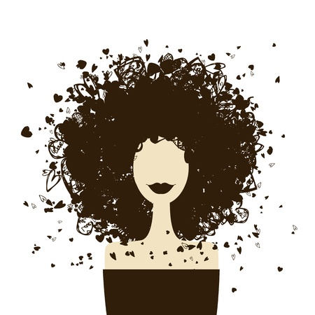 Fashion woman portrait for your design  Vector