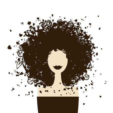 Mode Frau Porträt für Ihr Design Vektorgrafik