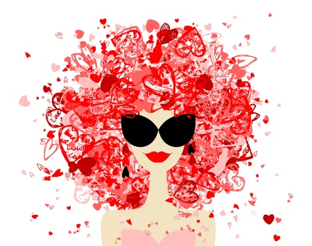 Fashion woman portrait for your design  Stock Vector - 12335047