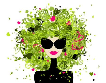 Fashion woman portrait for your design  Stock Vector - 12335041