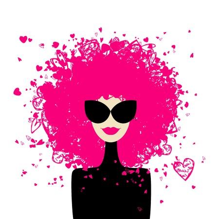 Fashion woman portrait for your design  Vector