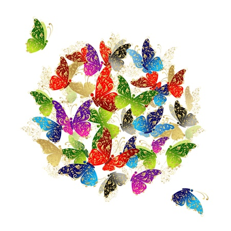 стиль жизни: Бабочка рамки для Вашего проекта Иллюстрация