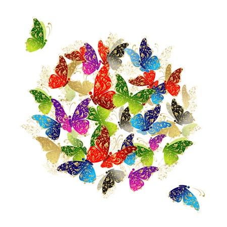 celebrate life: Mariposa marco para el dise�o de su Vectores
