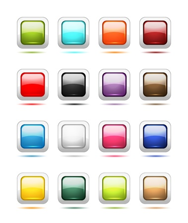 Set of glossy button icons for your design Vector