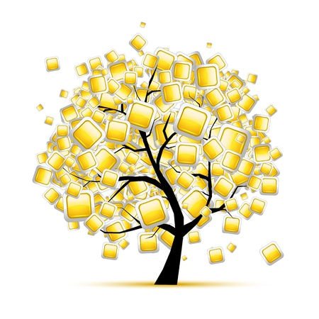 Web buttons tree for your design Stock Vector - 12397325