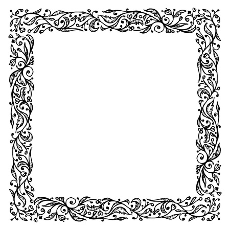 Ornamental frame, hand drawing for your design Vector