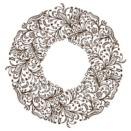 виньетка: Декоративная рамка, ручной рисунок для дизайна Иллюстрация