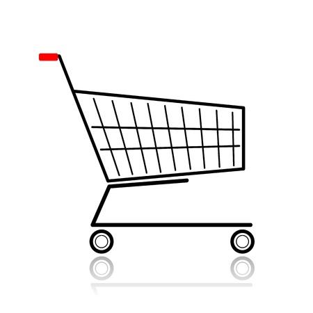 carretilla de mano: Supermercado de compra para su diseño Vectores
