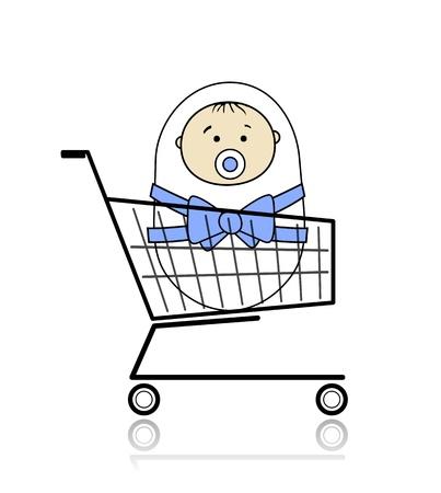 blankets: Baby in basket