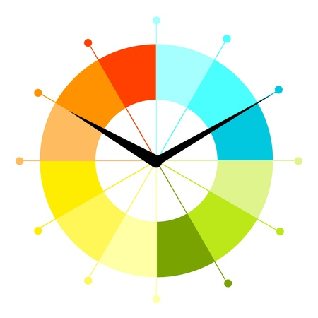 Creative klok ontwerp